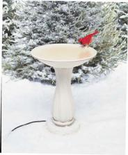 heated bird bath pedestal