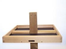 "7 /8""Natural Cedar 4x4 Post Mount Seed Catcher Platform"