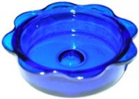 Replacement Glass Feeder Dish - Blue