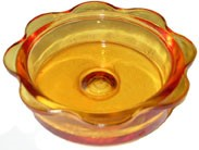 Replacement Glass Feeder Dish - Orange