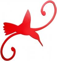 Erva- Decorative Hook - Hummingbird - Red